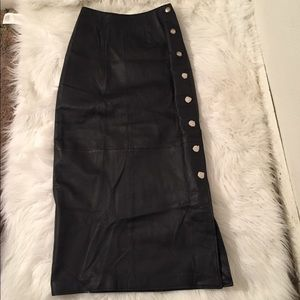 Style Works Women's Size 4 Leather Skirt